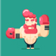 Cage Fighter Character - GraphicRiver Item for Sale