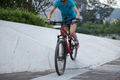 Woman freerider riding down ramps - PhotoDune Item for Sale
