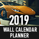 2019 Wall Calendar Planner Template - GraphicRiver Item for Sale