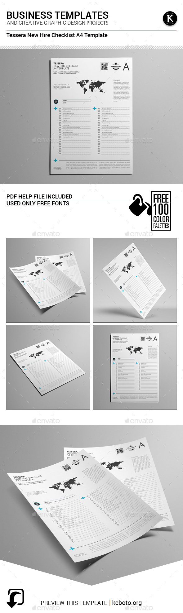 Tessera New Hire Checklist A4 Template - Miscellaneous Print Templates