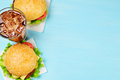 Two hamburgers and cola - PhotoDune Item for Sale