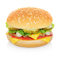 Cheese burger isolated - PhotoDune Item for Sale