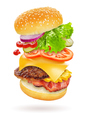 Flying burger isolated - PhotoDune Item for Sale