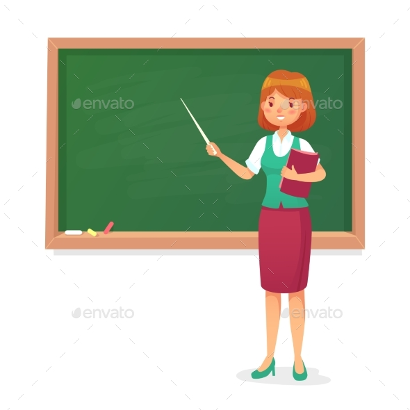 chalkboard and teacher by tartila graphicriver