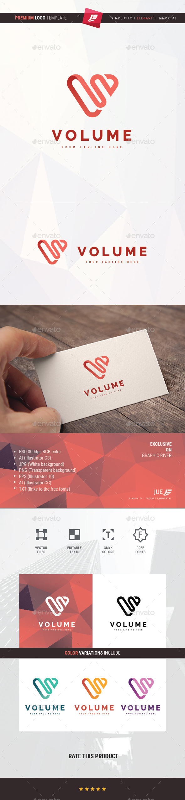 Volume Logo - Symbols Logo Templates