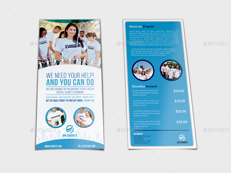 Volunteer Flyer Template Vol DL Size By OWPictures GraphicRiver - Volunteer flyer template