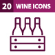 20 Wine Icons - GraphicRiver Item for Sale