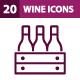 20 Wine Icons