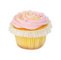 Cupcake with strawberry cream isolated on white - PhotoDune Item for Sale