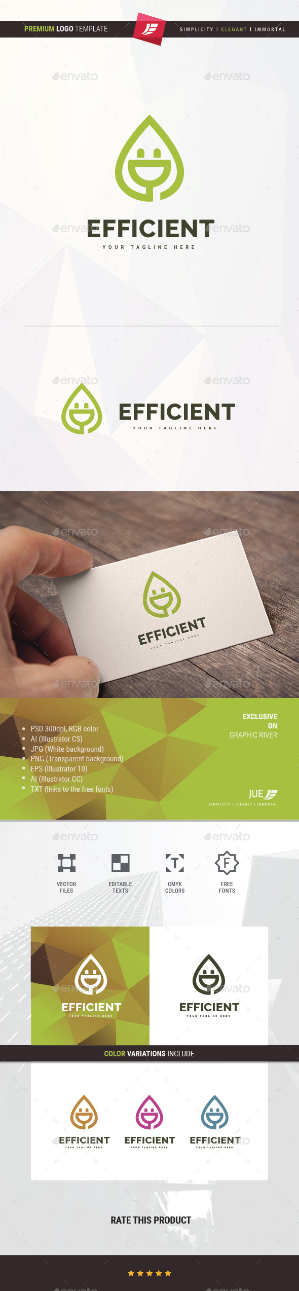 Efficient Plug Logo - Symbols Logo Templates