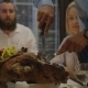 Man Carving Turkey on Holiday Dinner - VideoHive Item for Sale