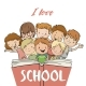 Group of Children with Book - GraphicRiver Item for Sale