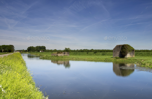 Bunker along the water - Stock Photo - Images