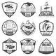 Vintage Monochrome Education Labels Set