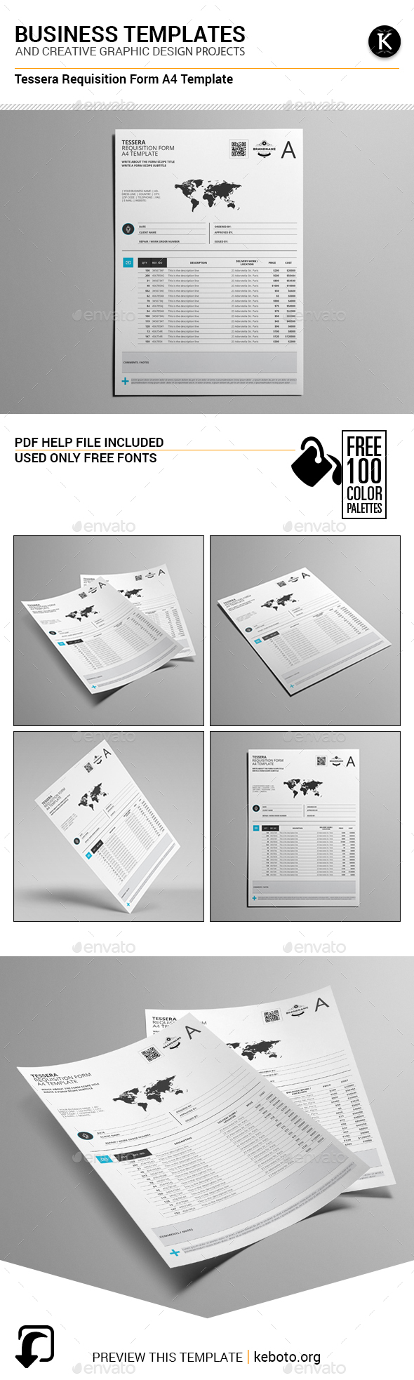Tessera Requisition Form A4 Template - Miscellaneous Print Templates
