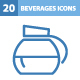 20 Beverages Icons - GraphicRiver Item for Sale