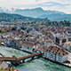 Swiss town Luzern with the Alps in the background timelapse - VideoHive Item for Sale