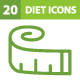 20 Diet Icons - GraphicRiver Item for Sale