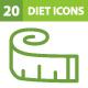 20 Diet Icons