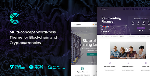 Image of Cryptonite - Blockchain and Cryptocurrencies WordPress Theme