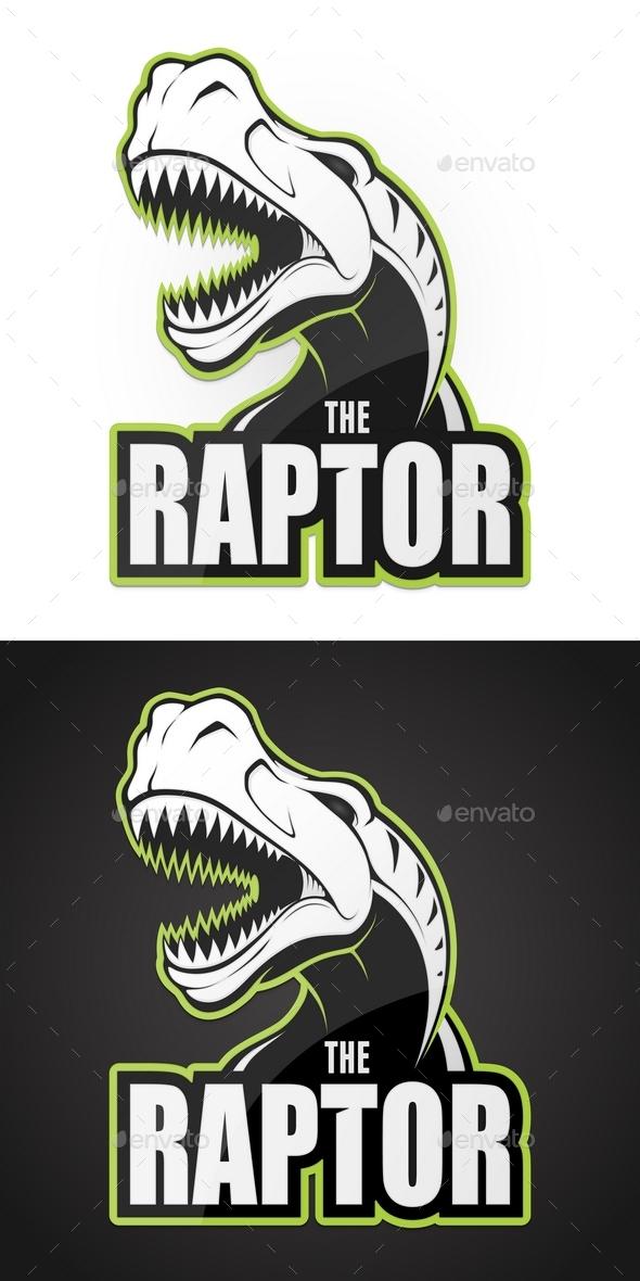 Dinosaur Raptor Emblem - Animals Characters