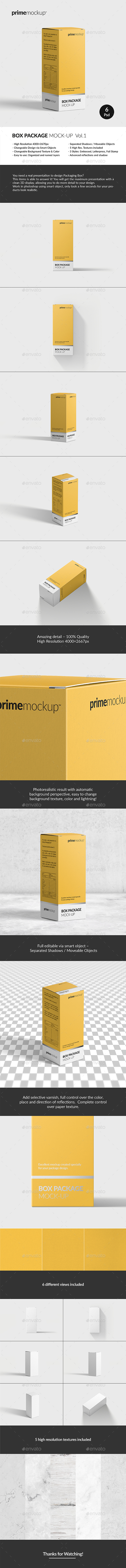 Package Box Mock-Up Vol.1 - Miscellaneous Packaging