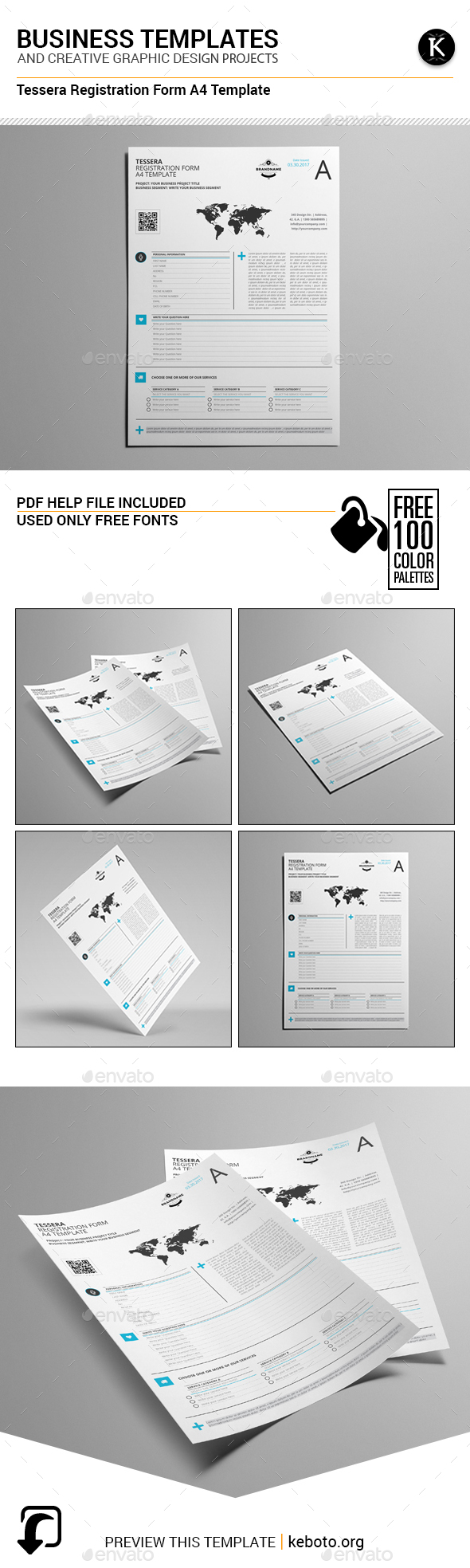 Tessera Registration Form A4 Template - Miscellaneous Print Templates