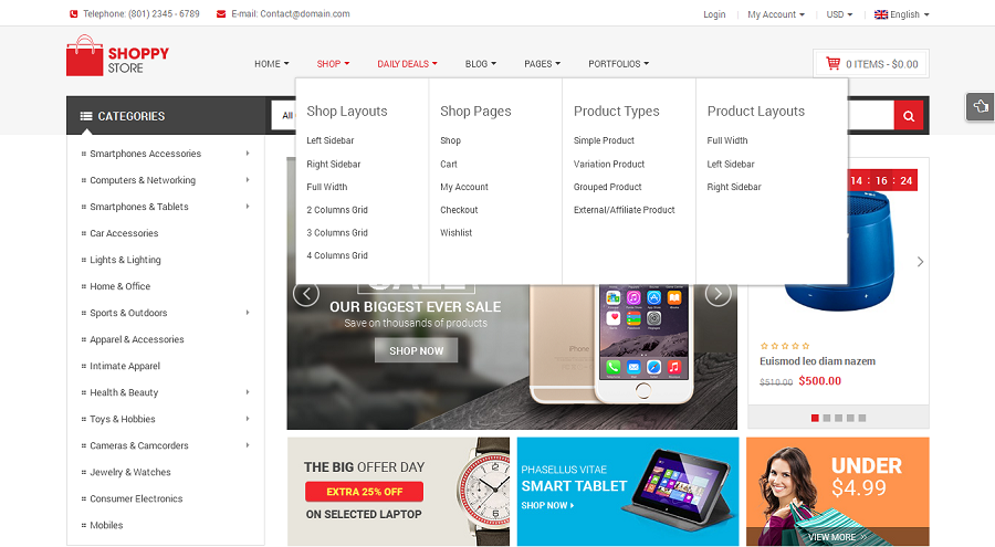 ShoppyStore - Multi-Purpose Responsive WooCommerce Theme (15+ ...