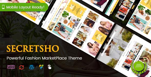 SecretSho - Fashion MarketPlace WordPress Theme (Mobile Layout Included)