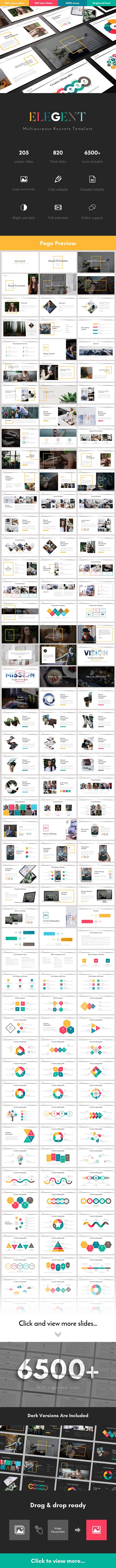 Elegent Multipurpose Keynote Template - Business Keynote Templates
