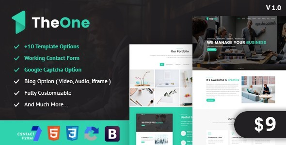 Image of TheOne - One Page Parallax Responsive HTML5 Template