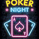 Poker Night Neon Flyer - GraphicRiver Item for Sale