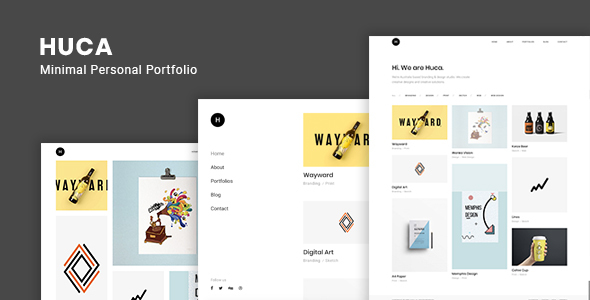 Image of Huca - Minimal Portfolio WordPress Theme