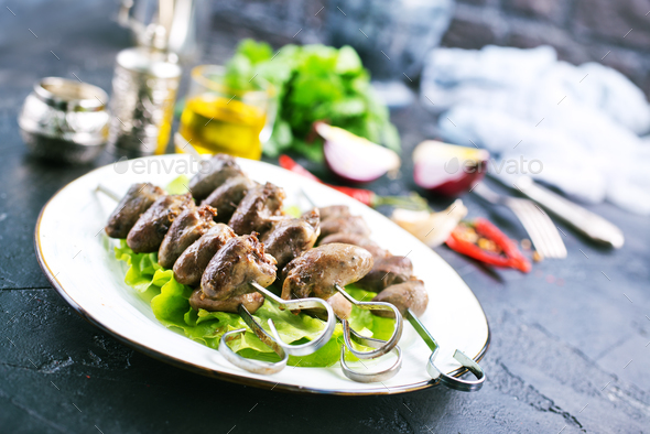 chicken hearts - Stock Photo - Images