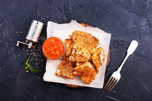 fried fish - Stock Photo - Images