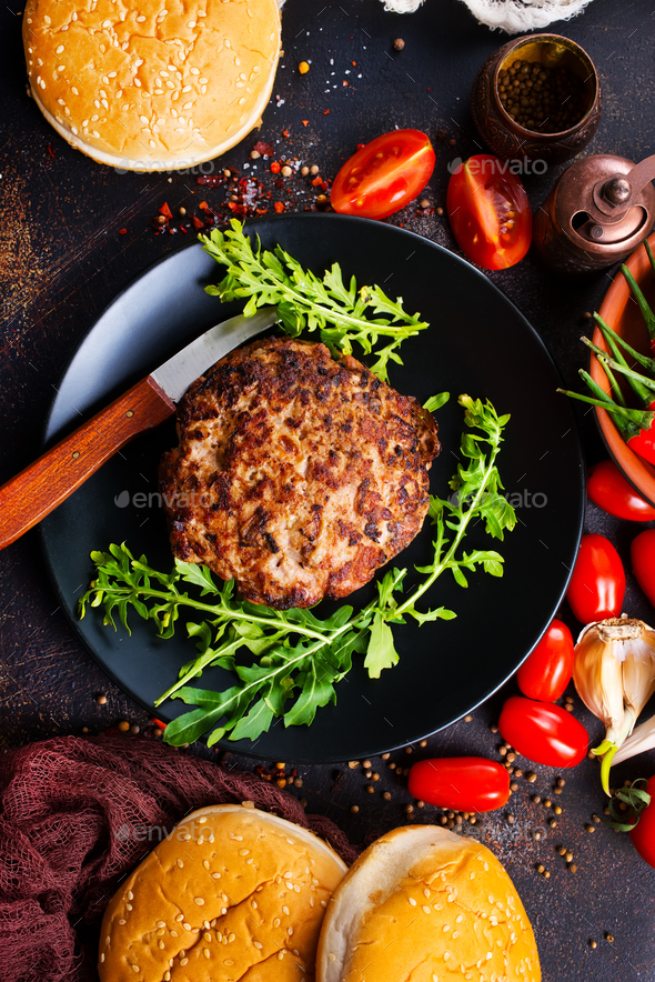 ingredients for burgers - Stock Photo - Images