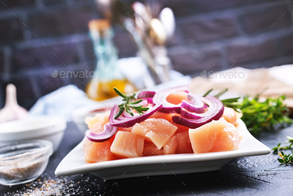 raw chicken breast - Stock Photo - Images