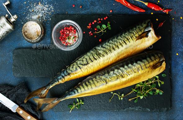 smoked fish - Stock Photo - Images