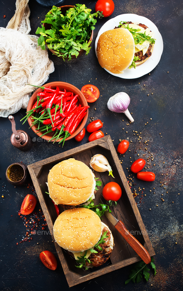 burgers - Stock Photo - Images