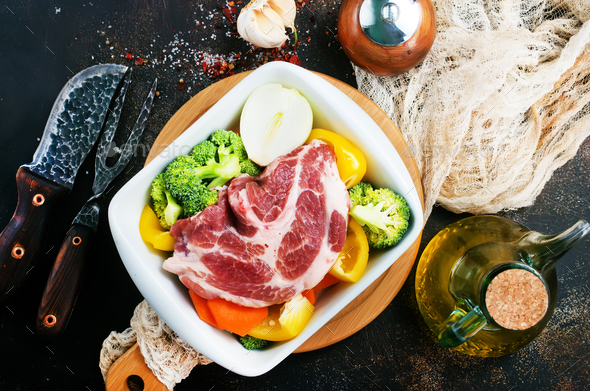 meat with vegetables - Stock Photo - Images