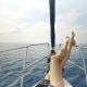 The Legs of a Girl on a Yacht, Luxury Summer Lifestyle Happy Adventure Travel Vacation - VideoHive Item for Sale