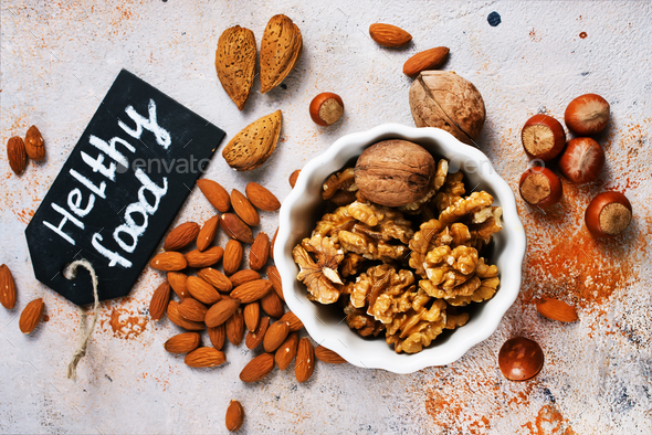 mix nuts - Stock Photo - Images
