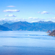 Maggiore lake panoramic view from Mottarone Stresa. Piedmont Ita - PhotoDune Item for Sale