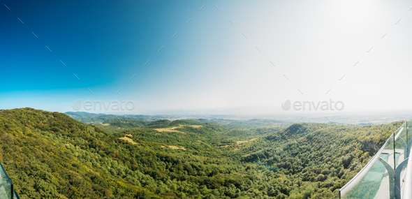 Kutaisi, Georgia. Panorama Of State Sataplia Reserve. Summer Lan - Stock Photo - Images