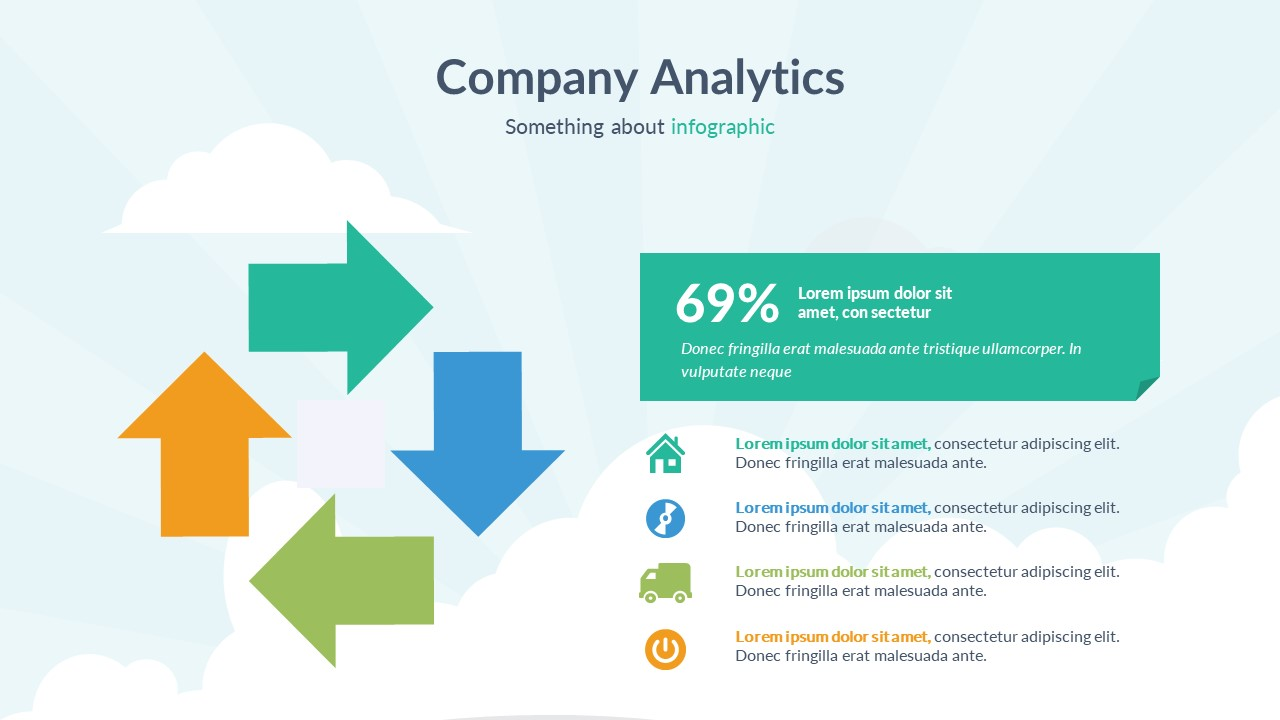 company analytics infographic powerpoint template by onepercent