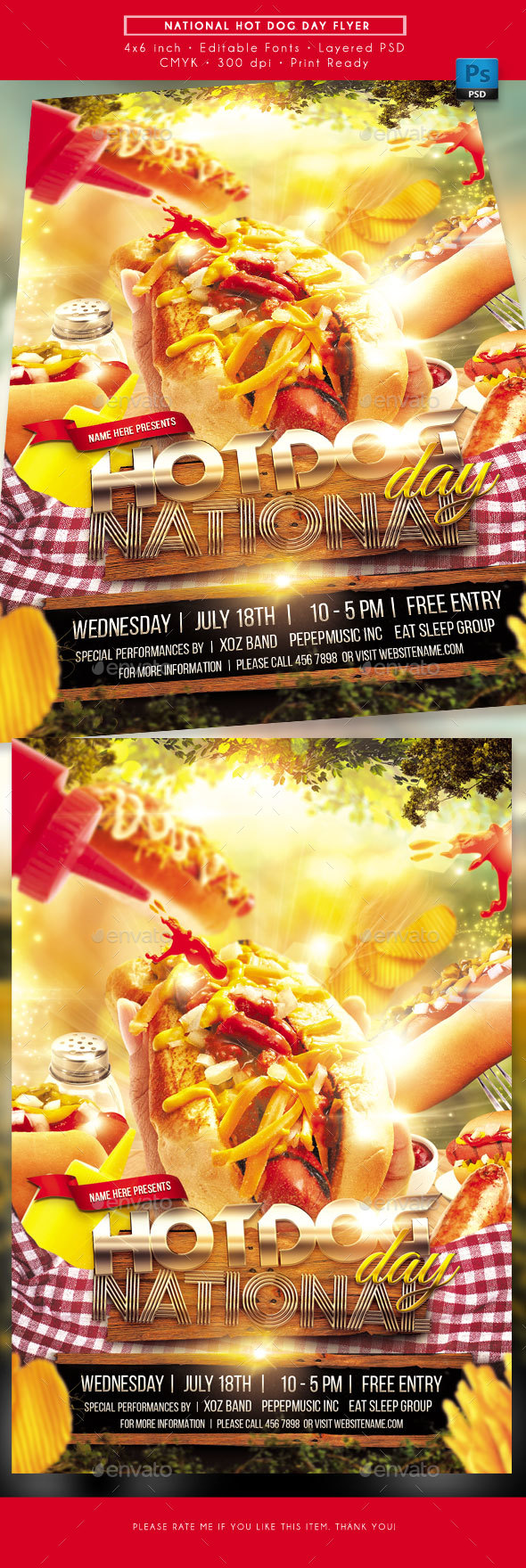 Hot Dog Day Flyer - Miscellaneous Events