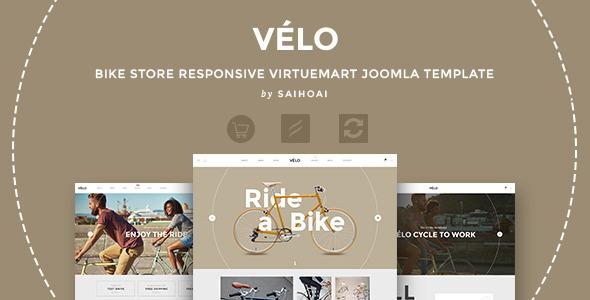 Image of Velo - Bike Store Responsive VirtueMart Template