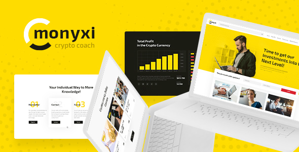 Image of Monyxi | Cryptocurrency Trading Business Coach WordPress Theme