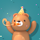 3d Party Bear - VideoHive Item for Sale