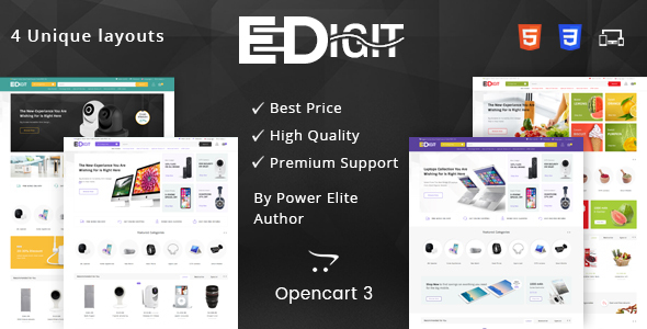 eDigit - Multipurpose OpenCart 3 Theme - Technology OpenCart